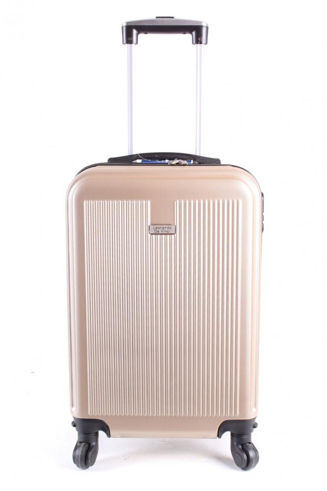 53557b5d96b50 Cestovný kufor malý LEONARDO DA VINCI - béžový (53x37x23 cm + 5 cm kolieska)