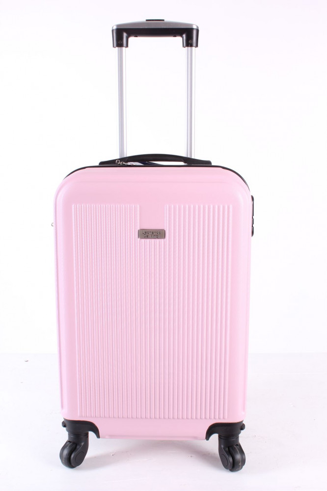 Cestovný kufor malý LEONARDO DA VINCI - bledoružový (53x37x23 cm + 5 cm kolieska)
