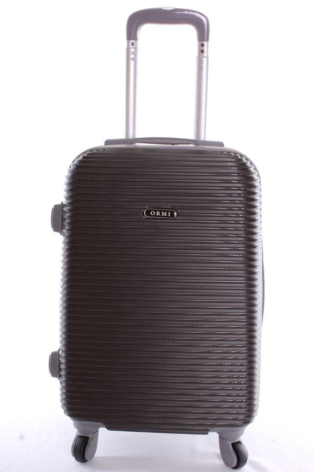7374cf60af0c4 Cestovný kufor plastový-malý-tmavosivý VZOR 3 (52x38x23 cm+kolieska ...