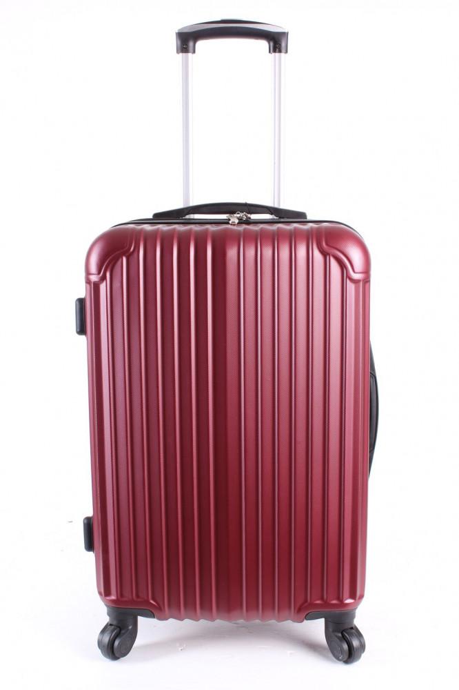 Cestovný kufor stredný HA CHI - bordový (57x40x25 cm + 5 cm kolieska)