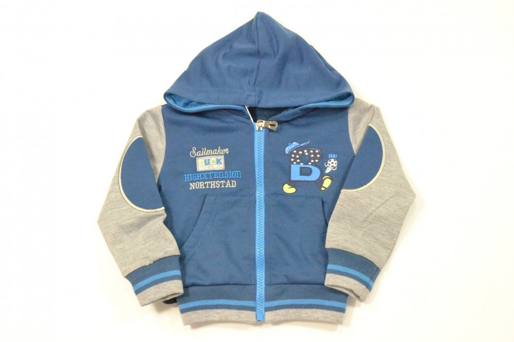 cc7e7e98e Chlapčenská mikina s kapucňou - modrá - Detské mikiny a svetre ...