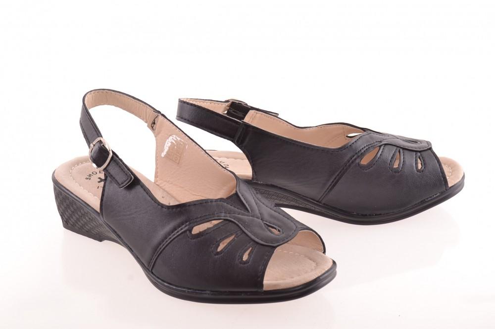 e8037810a4 Čierna otvorená zdravotná obuv - Zdravotná obuv dámska - Locca.sk