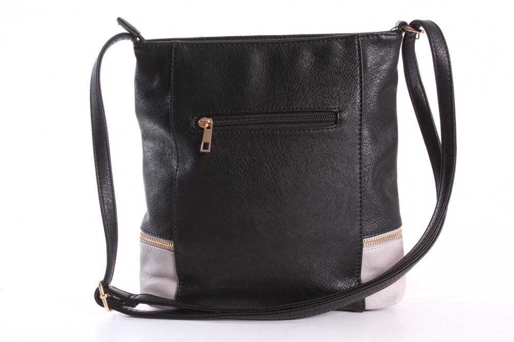 fb8430254c Dámska kabelka (A6850) - sivo-čierna (24x28x4 cm) - Letné kabelky ...