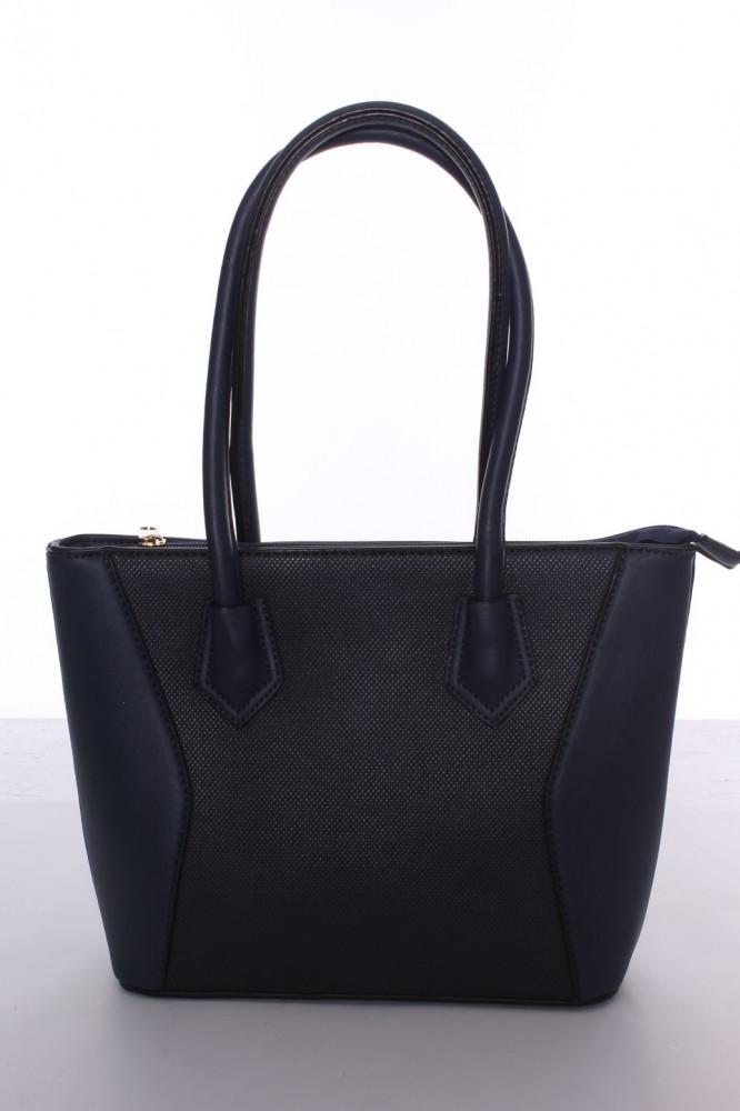 c8e82e1654 Dámska kabelka s čiernym lemovaním (A302-2) - modrá (25x22x8 cm ...