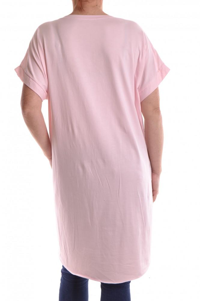 a2778535534b Dámske letné úpletové šaty - bledoružové D3 - Ležérne šaty pre ...