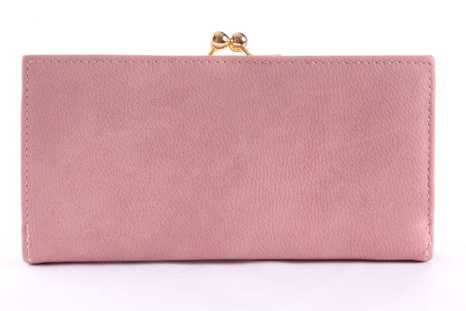 db82745c79 Dámska peňaženka so zlatým zapínaním - bledoružová(19x9