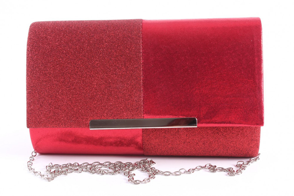 Dámska spoločenská kabela (6338) - červená (22x13x5 cm)