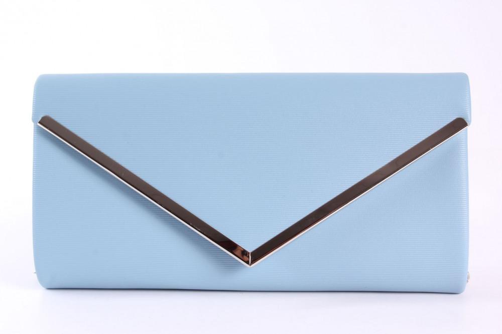 Dámska spoločenská kabelka (HD762) - modrá (24x12x5 cm)