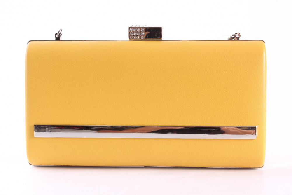 Dámska spoločenská kabelka (LK5648) - žltá (22x12x4 cm)