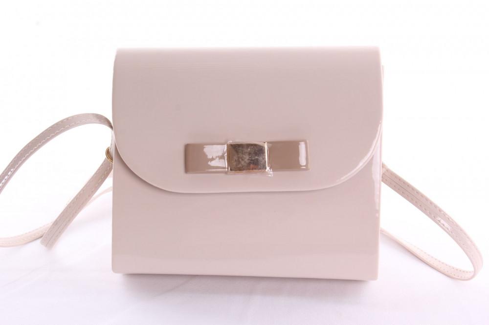 Dámska spoločenská kabelka s mašlou VZOR 4. - béžová - Spoločenské ... 69775cc3262