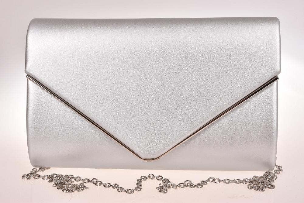 9a5fd71228 Dámska spoločenská kabelka - strieborná 2.(22x14x3 cm) - Spoločenské ...