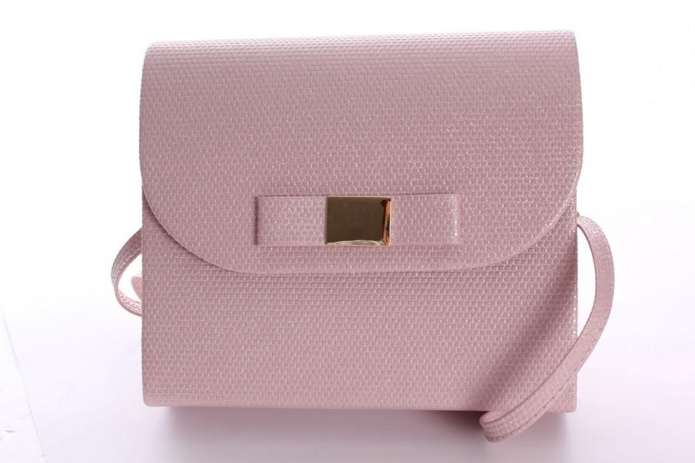 Dámska spoločenská kabelka trblietavá (18x16x5 cm) - ružová ... 8c1b9b5ddae