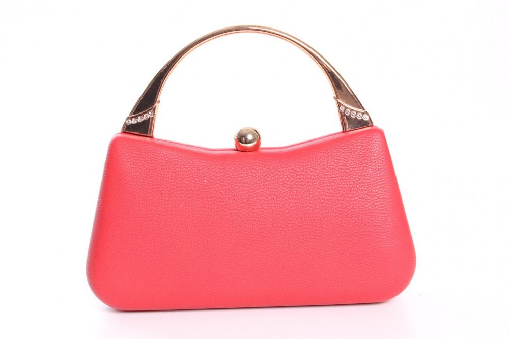 Dámska spoločenská kabelka (ZL2072) - červená (9x20x6 cm)