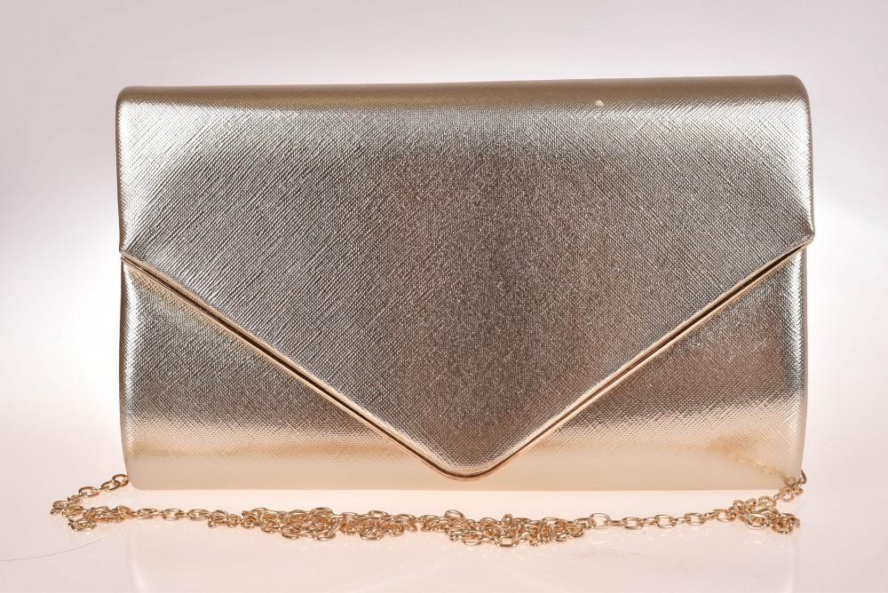 2db5cf85fd Dámska spoločenská kabelka - zlatá (22x14x3 cm) - Spoločenské ...