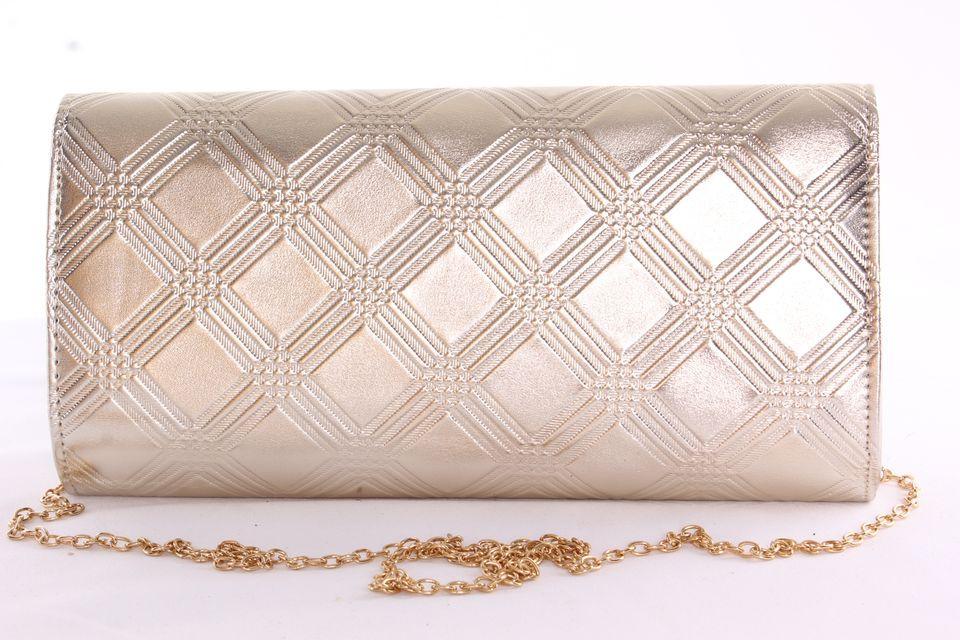 d9d79ca46d Dámska spoločenská listová kabelka vzorovaná so zlatým lemom - zlatá  (26x14x4 cm)  1
