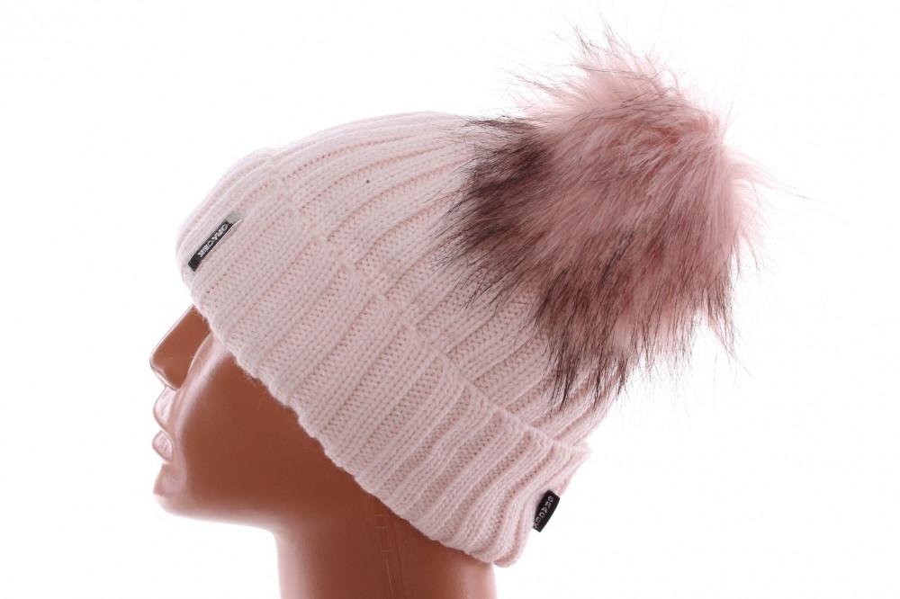 cad11f603 Dámska zateplená čiapka s dvoma brmbolcami - ružová - Dámske čiapky ...