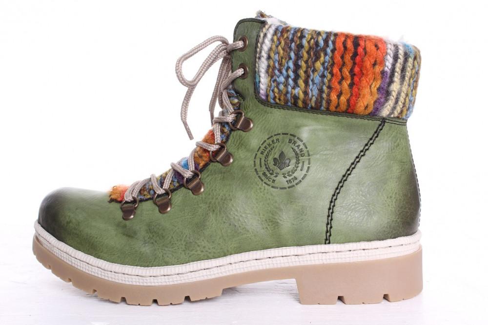 3624fb540285e Dámska zateplená športová obuv Rieker (Y9432-52) - zelená - Dámske ...