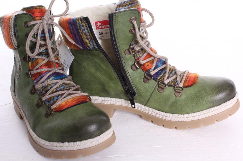 587e9efb11ed7 Dámska zateplená športová obuv Rieker (Y9432-52) - zelená - Dámske ...