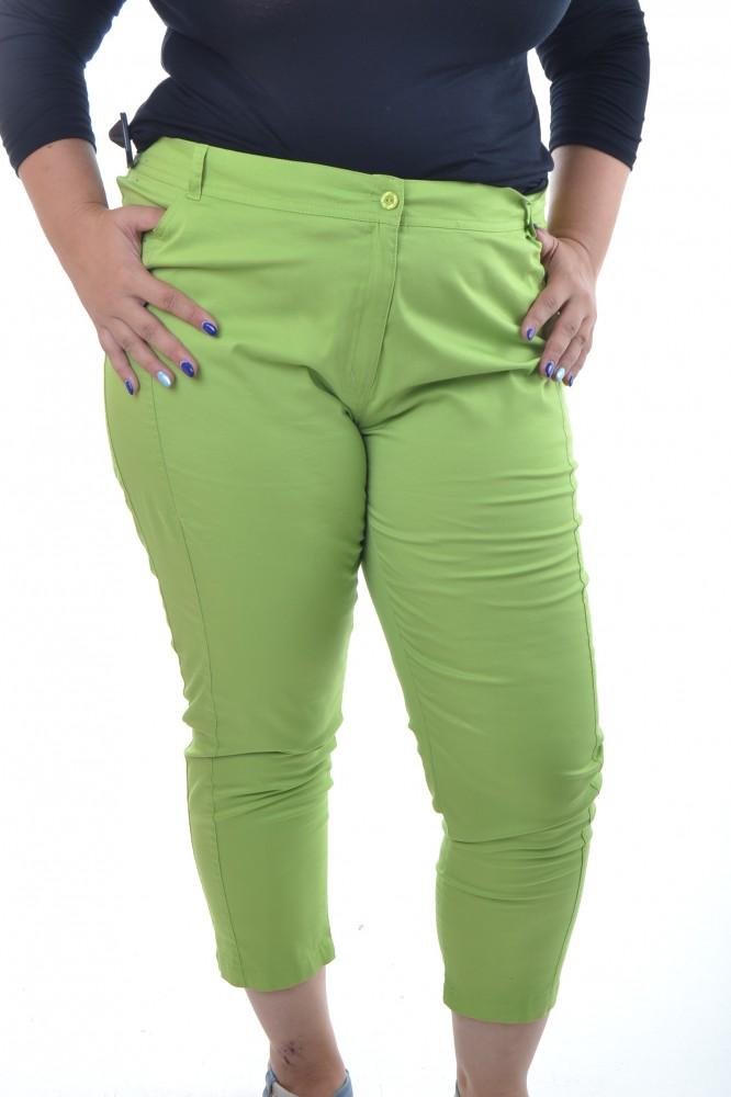 bc5b001b1fc2 Dámske 7 8 elastické nohavice - zelené - Nohavice pre moletky - Locca.sk