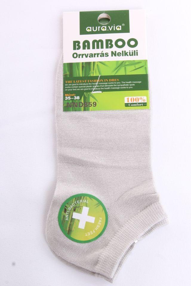 Dámske bambusové členkové ponožky NND859 (v. 35-38) - bledosivé ... 5bf98ae5c0