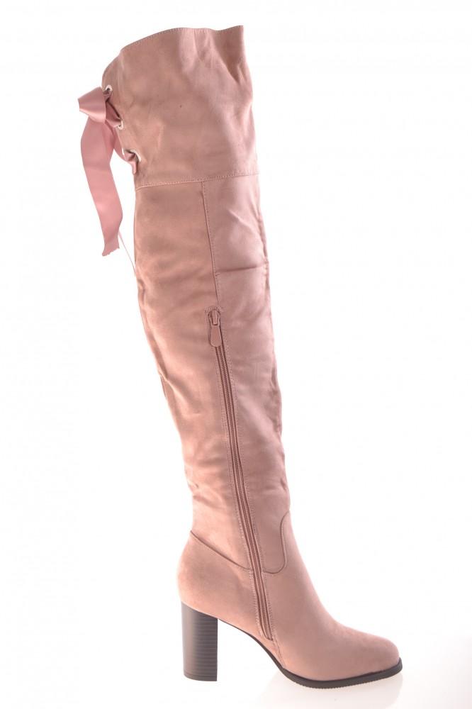 Dámske čižmy semišové (PE121) - staroružové (v. podp. 8 cm) - Dámske ... a5c7e293636