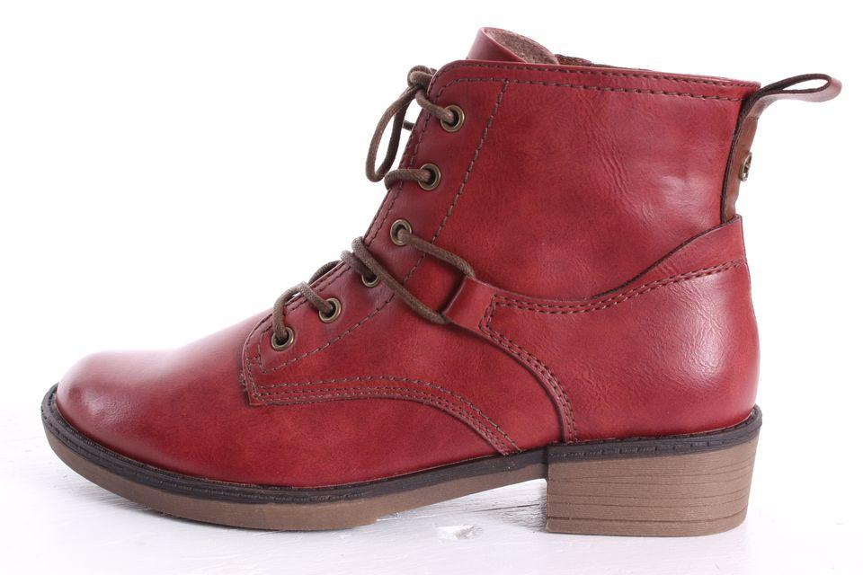 1b7d99cfcf890 Dámske členkové topánky TAMARIS (1-25116-21 536) - bordové (v. 3,5 cm)