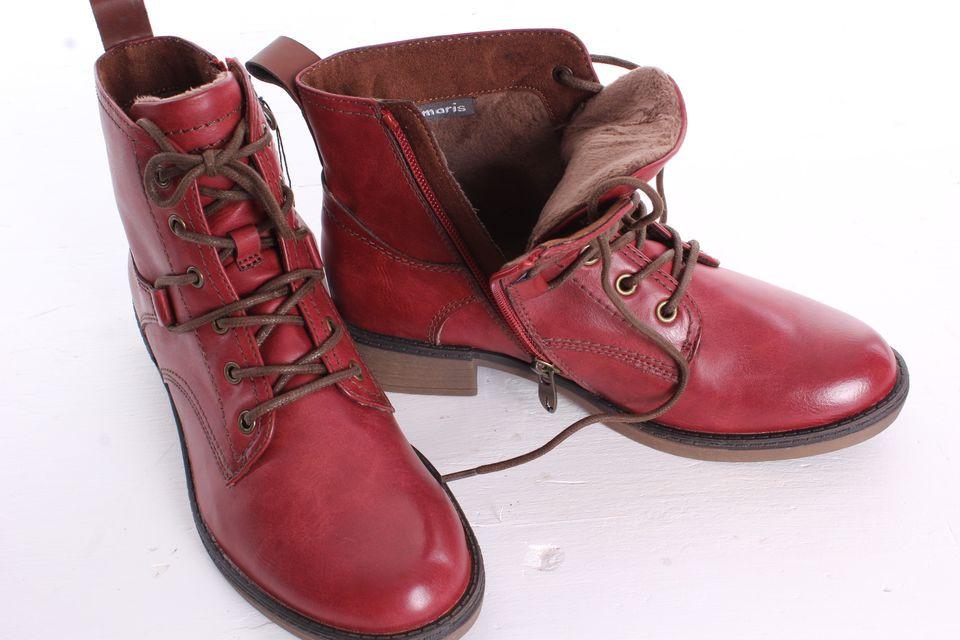 Dámske členkové topánky TAMARIS (1-25116-21 536) - bordové (v. 3 d13d1b47366