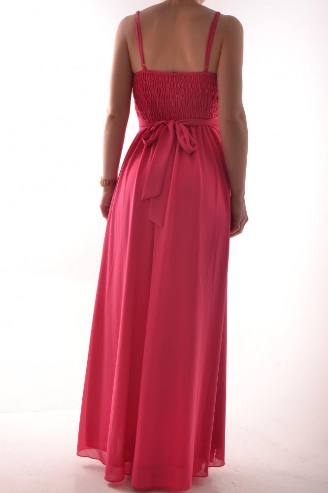 fc5dfcf2596a Dámske dlhé spoločenské šaty s krajkou - ružové D3 - Spoločenské ...