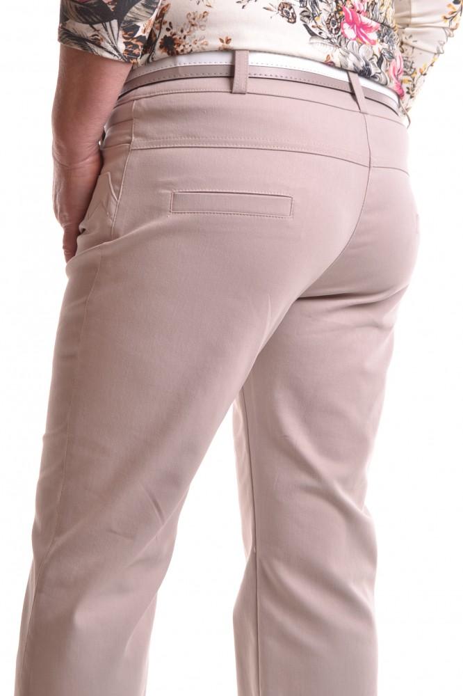 65059fccbf59 Dámske elastické nohavice s opaskom - béžové D32 - Nohavice pre ...