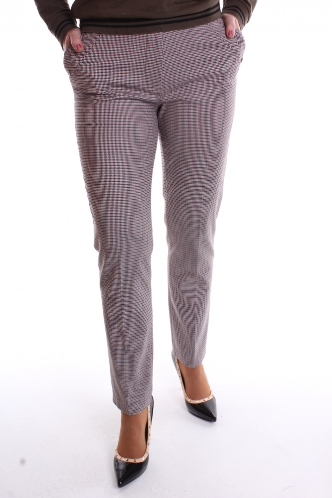 5ef24812ec16 Dámske elastické nohavice s opaskom