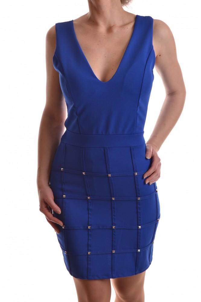 Dámske elastické šaty zdobené s nitmi - kráľovské modré - Dámske ... 5c3d6951fd