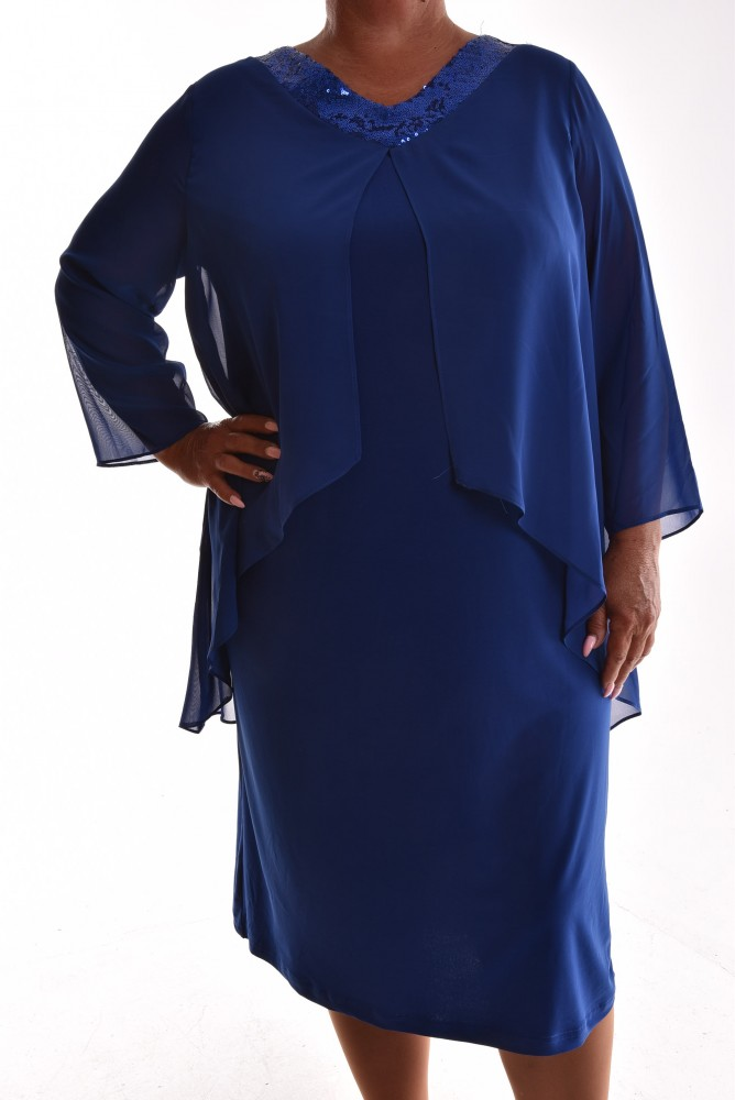56f14590f698 Dámske elastické spoločenské šaty VZOR 18. - kráľovské modré ...