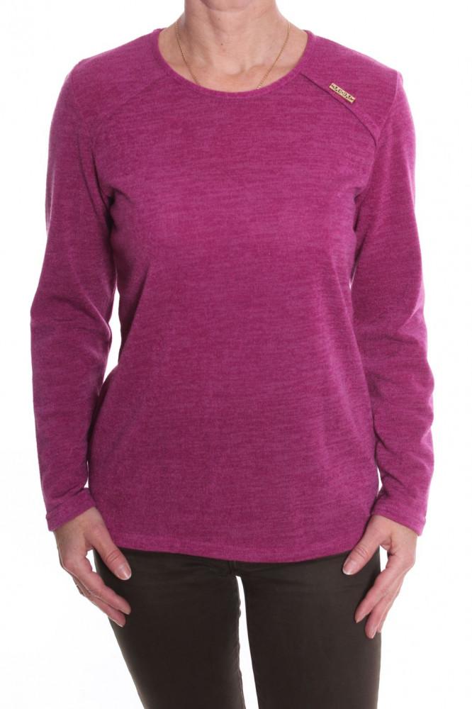 0fa803176f1a Dámske elastické tričko - bordovo-ružové D3 - Tričká pre moletky ...