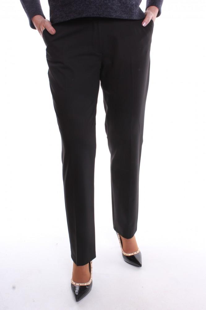 Dámske elegantné elastické nohavice s opaskom - čierne - Dámske ... bf843cf87aa
