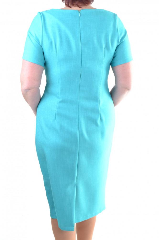 Dámske ľanové šaty - azúrovo-maslovo-tmavomodré - Dámske šaty - Locca.sk eff34733be5