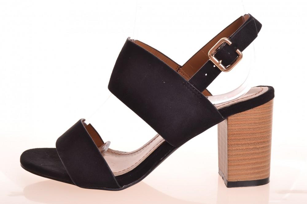 be508664e5 Dámske letné sandále na opätku (v. 8 cm) - čierne (NE01) - Dámske ...