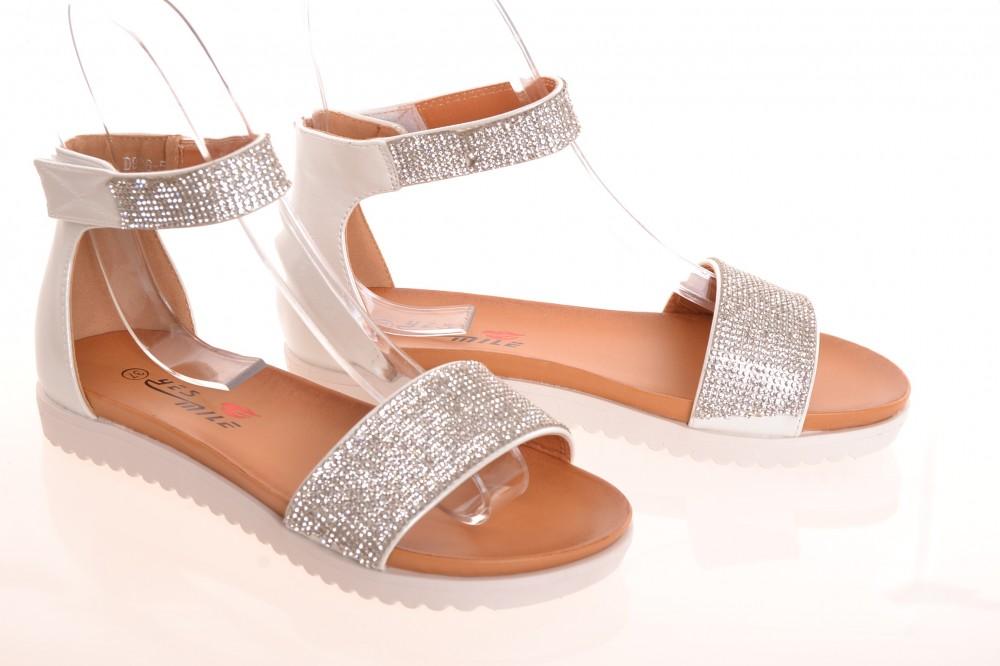 Dámske letné sandále trblietavé - strieborno-biele (D926-5) - Dámske ... 7469d5c16b1