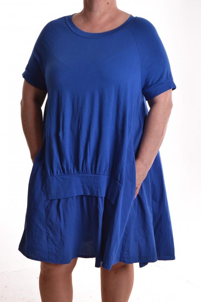 d286cd6a8308 Dámske letné šaty s vreckami - kráľovská modrá D3 - Ležérne šaty pre ...