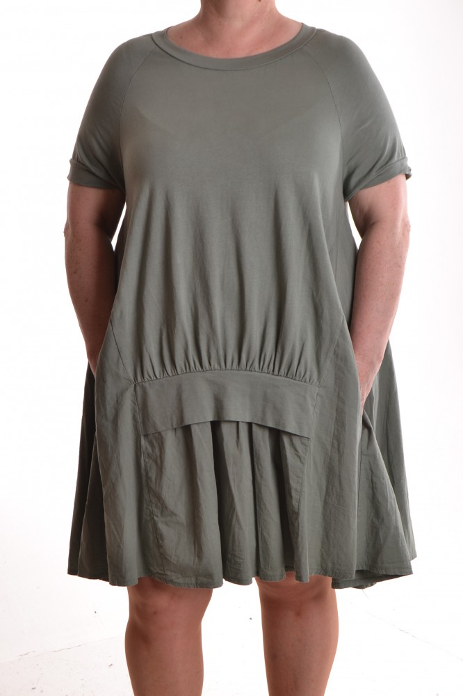 1d0dcde403dd Dámske letné šaty s vreckami - zelená D3 - Ležérne šaty pre moletky ...