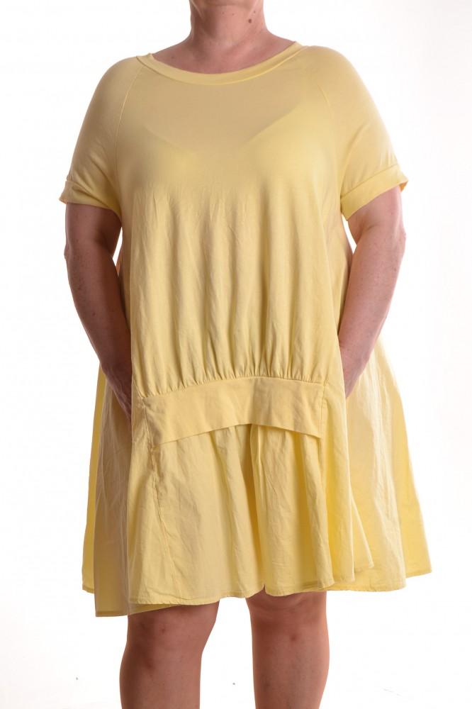 37b7659af737 Dámske letné šaty s vreckami - žlté D3 - Ležérne šaty pre moletky ...