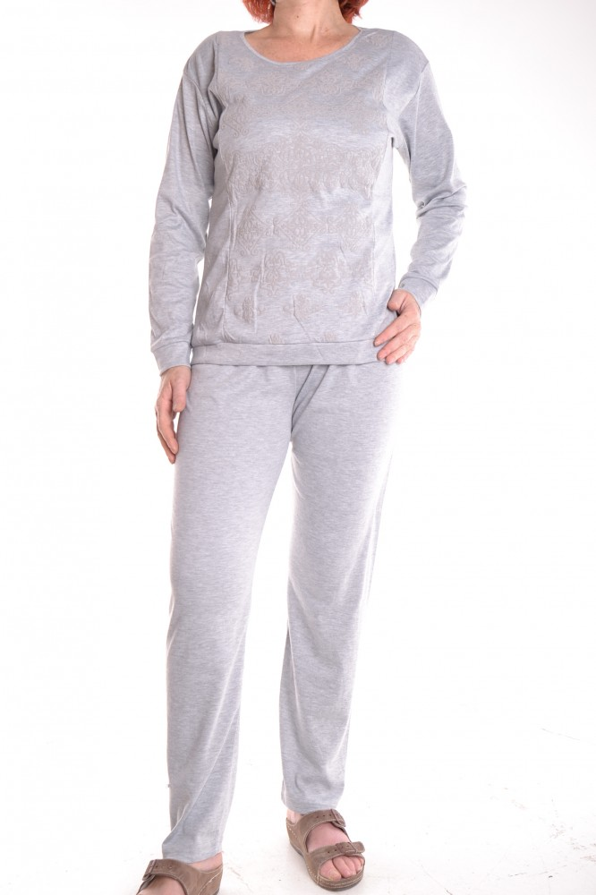 cca0eb815 Dámske pyžamo s potlačou - sivé D3 - Pohodlné dámske pyžamá - Locca.sk
