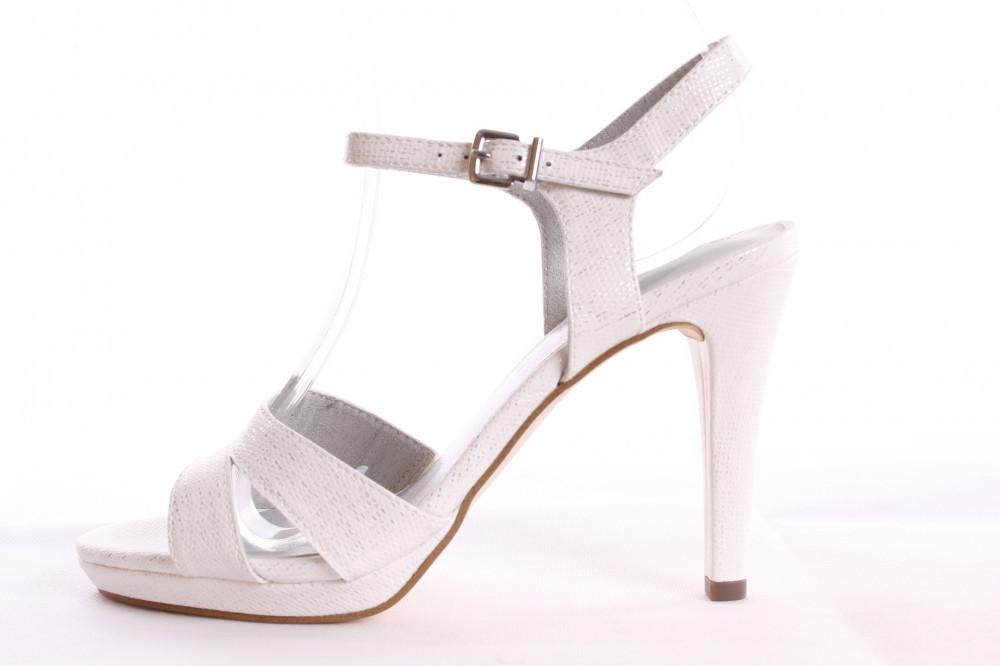cac7dfd1a Dámske sandále TAMARIS (1-28007-20 139) - strieborno-biele (v. podp. 10 cm)
