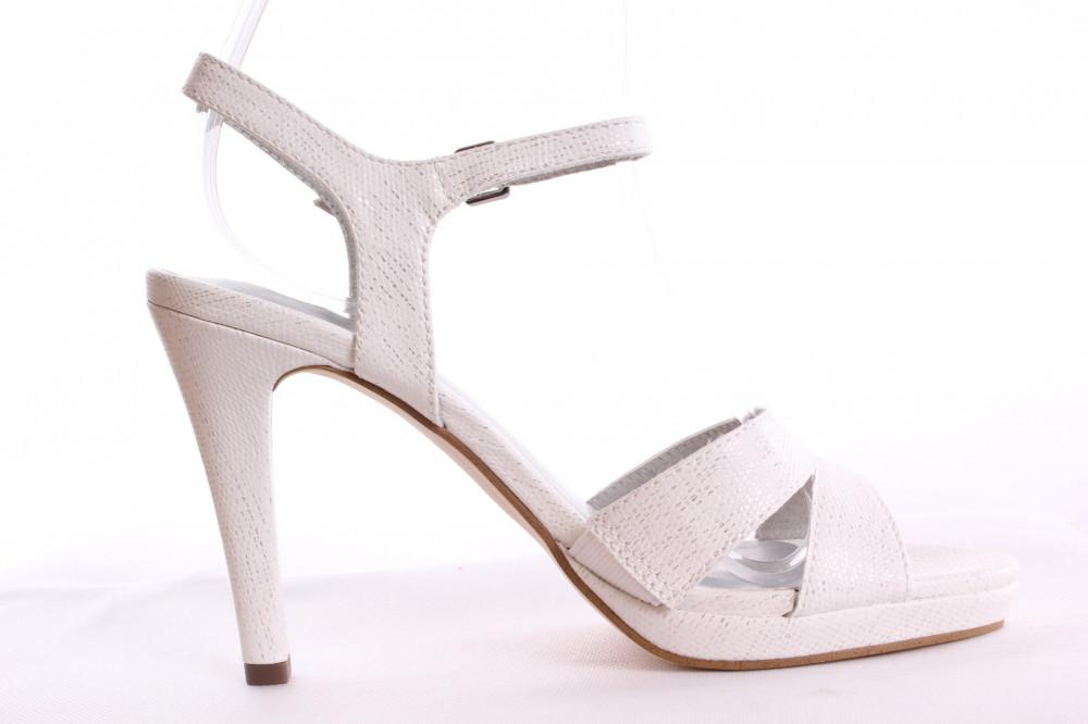 b59e12738 Dámske sandále TAMARIS (1-28007-20 139) - strieborno-biele (v. podp ...