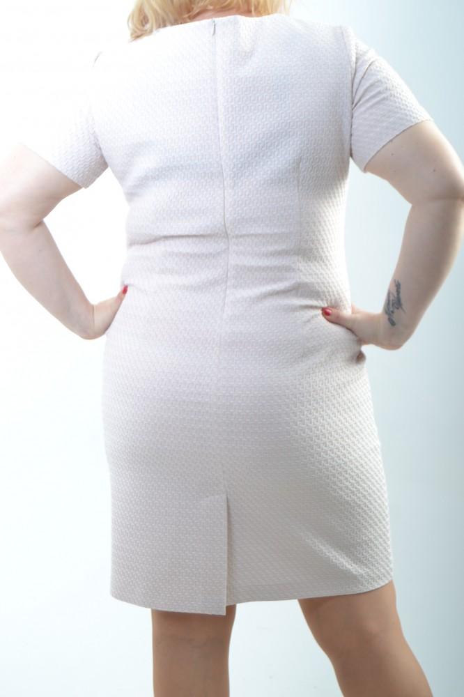 23f082fb5274 Dámske šaty s kabátikom - bledoružové D3 - Ležérne šaty pre moletky ...