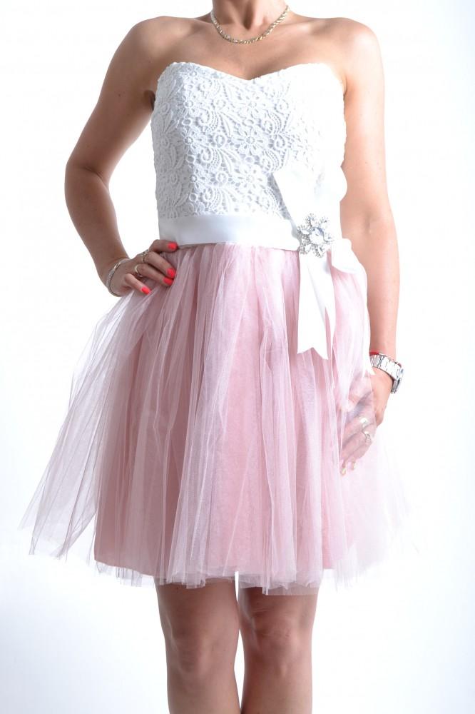 f36e62b12fb5 Dámske šaty s krajkou a staroružovým tylom D3 - Dámske elegantné ...