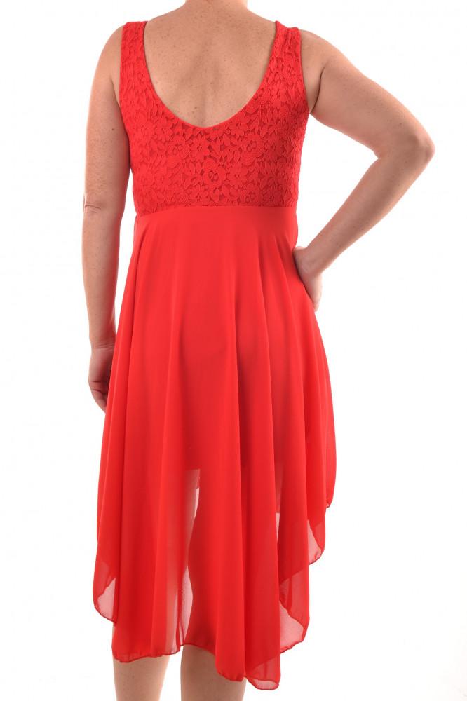 3009da16c44 Dámske šaty s krajkou - červené D3 - Spoločenské