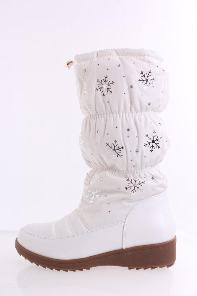 Dámske snehule ( QC 05P) biele (28cm+3cm) - Dámske snehule - Locca.sk 22d913850c