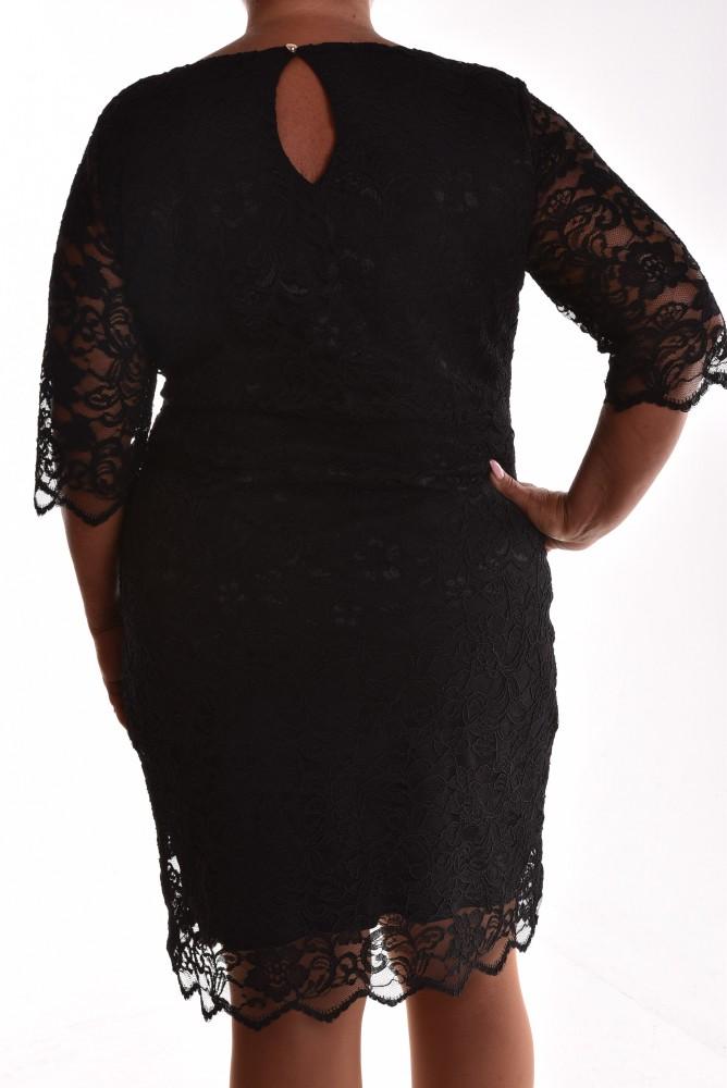 edab5bbc6b0b Dámske spoločenské čipkované šaty VZOR 2. - čierne - Spoločenské ...