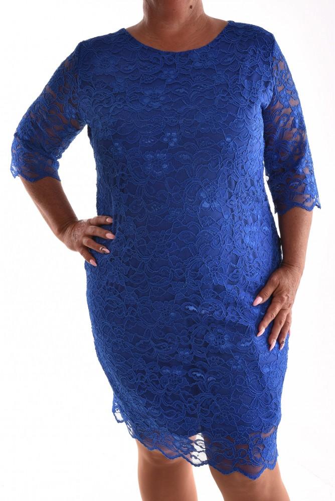 f9a56c01afb0 Dámske spoločenské čipkované šaty VZOR 2. - kráľovské modré ...