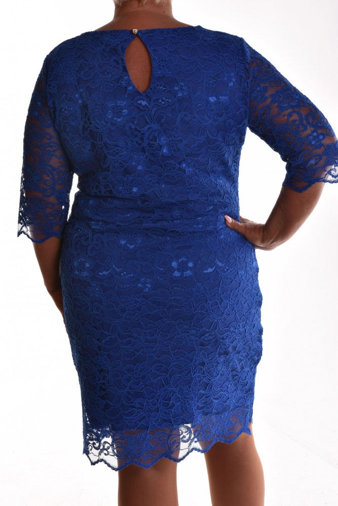 8b6dd511a5c8 Dámske spoločenské čipkované šaty VZOR 2. - kráľovské modré ...
